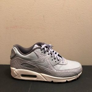 Nike Air Max 90 Premium Grey Safari Women's Shoes NWT
